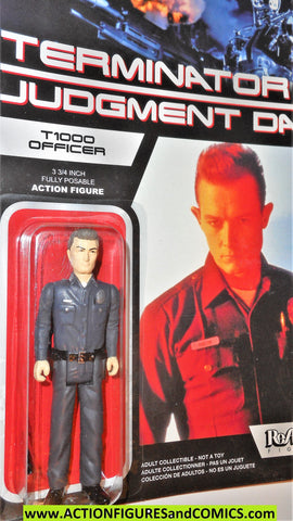 Reaction figures Terminator T1000 OFFICER liquid judgment day 2 movie cop action moc
