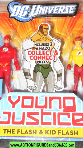 Young Justice FLASH & KID FLASH 2 pack league dc universe moc mib