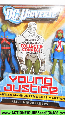 Young Justice MARTIAN MANHUNTER MISS MARTIAN 2 pack league dc universe moc mib