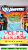 Young Justice BATMAN & ROBIN dynamic duo 2 pack league dc universe moc mib