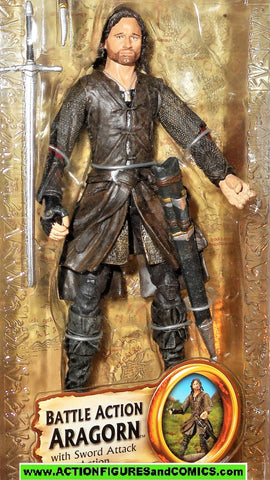 Lord of the Rings ARAGORN Battle Action strider toy biz hobbit lotr moc