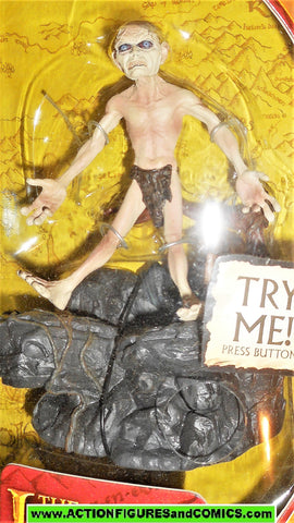 Lord of the Rings GOLLUM sound base toy biz smeagol hobbit moc