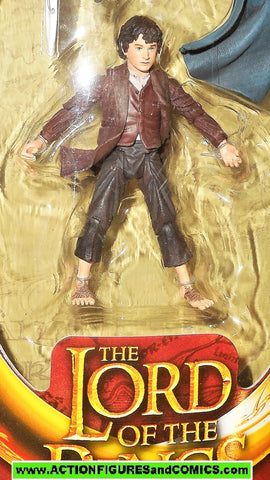 Lord of the Rings FRODO ELVEN CLOAKED toy biz complete hobbit moc