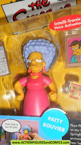 simpsons PATTY BOUVIER series 4 2001 playmates world of springfield moc