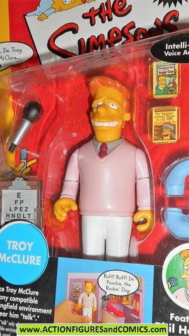 simpsons TROY McCLURE all star voices playmates world of springfield moc