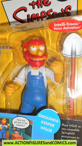 simpsons GROUNDS KEEPER WILLIE 2001 playmates world of springfield moc