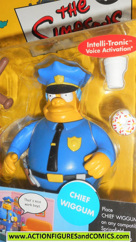 simpsons CHIEF WIGGUM police officer cop playmates world of springfield moc