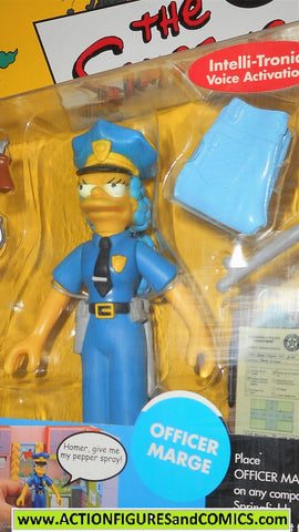 simpsons MARGE SIMPSON police officer cop playmates world of springfield moc
