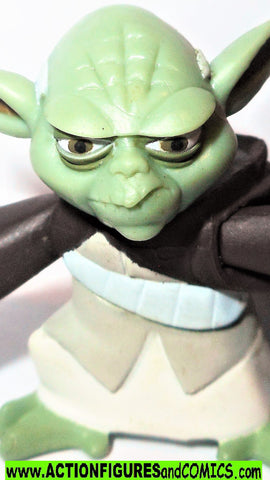 star wars action figures YODA clone wars animated 2005