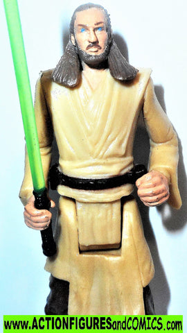 star wars action figures QUI GON JINN 2.5 inch MINI tatooine 1999