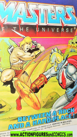 Masters of the Universe BETWEEN a rock and a hard place vintage He-man mini comic