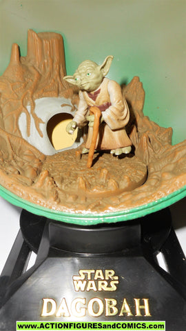 star wars action figures YODA DAGOBAH Planet complete galaxy potf