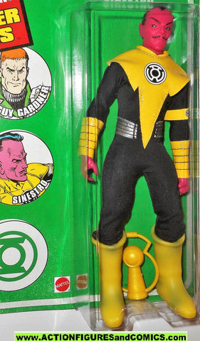 dc super heroes retro action SINESTRO YELLOW 8 inch mego style mattel moc