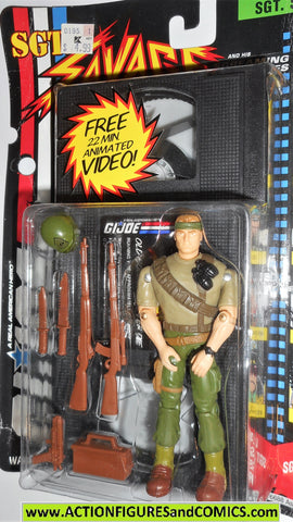 Gi joe SGT SAVAGE COMMANDO 1994 VHS Video tape gijoe g i moc