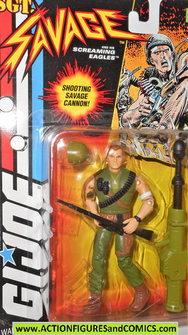 Gi joe SGT SAVAGE COMBAT 1994 gijoe g i action figure hasbro moc