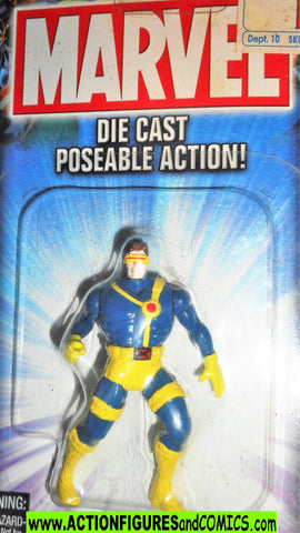 Marvel die cast CYCLOPS die cast poseable metals x-men 1995 toybiz universe moc