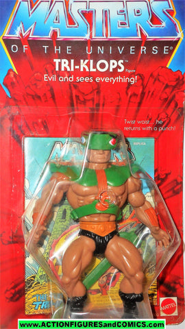 Masters of the Universe TRI KLOPS vintage commemorative he-man motu action figures mattel mib moc mip