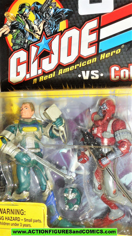 gi joe WET-SUIT vs COBRA MORAY 2002 repaints red maroon action figures moc