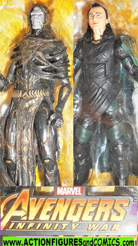 marvel legends CORVUS GLAIVE LOKI avengers infinite war moc mib