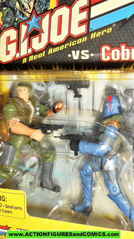 gi joe DUKE vs COBRA COMMANDER 2002 Series 1 moc