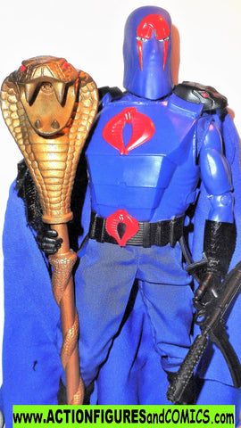 Gi joe COBRA COMMANDER 12 inch gijoe vs cobra 2001 2002 complete