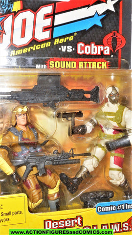 gi joe DUSTY vs COBRA DESERT CLAWS 2002 trooper soldier v7 v1 moc