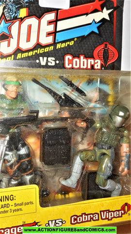 gi joe MIRAGE vs COBRA VIPER 2002 cobra gijoe v2 v7 figure moc