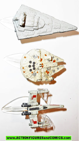 star wars micro machines VEHICLES SET I 1 X-wing millenium falcon star destroyer