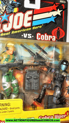 gi joe MIRAGE vs COBRA VIPER 2002 cobra gijoe v3 v8 figure moc