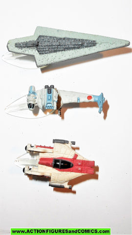star wars micromachines VEHICLES SET IX 9 a-wing b-wing super star destroyer