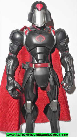 Gi joe COBRA COMMANDER sigma 6 six 8 inch BATTLEFIELD BLACK SUIT