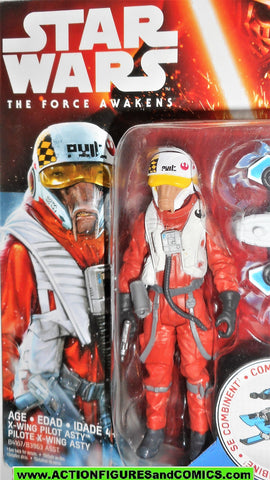 star wars action figures ASTY X-WING pilot force awakens 2015 moc