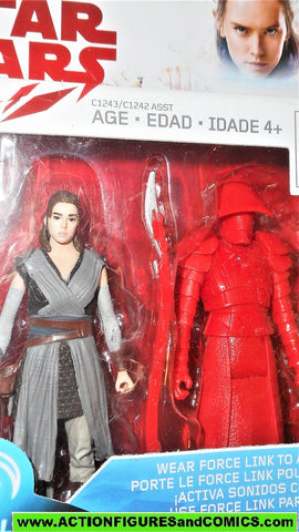 star wars action figures REY ELITE PRAETORIAN GUARD Force link 2016 moc