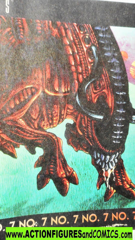 Aliens vs Predator kenner BULL ALIEN Stampeed mini comic 7