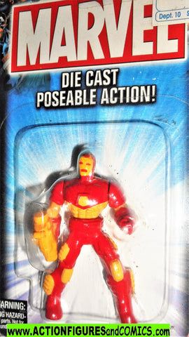 Marvel die cast IRON MAN 2 poseable action figure 2002 toybiz universe moc