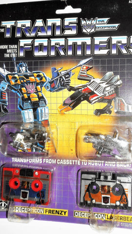 Transformers G1 FRENZY LASERBEAK RUMBLE reissue KO 1984 moc