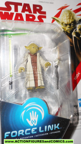 star wars action figures YODA force link 2017 action figure