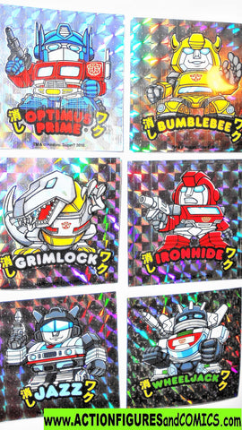 Transformers STICKER SET complete autobots optimus prime bumblebee