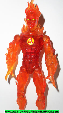 marvel legends HUMAN TORCH FLAME ON fantastic four classics