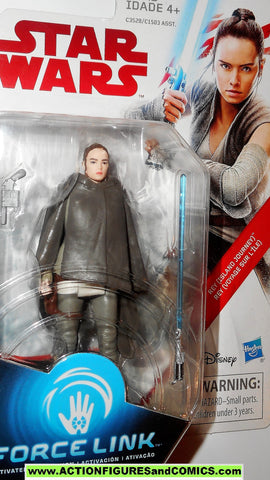 star wars action figure REY Island journey force link 2017 last jedi