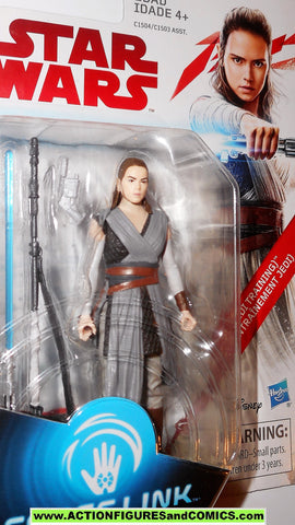star wars action figure REY jedi training force link 2017 last jedi