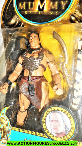 Mummy Returns SCORPION KING 2001 dwayne the Rock Johnson wwf wwe moc