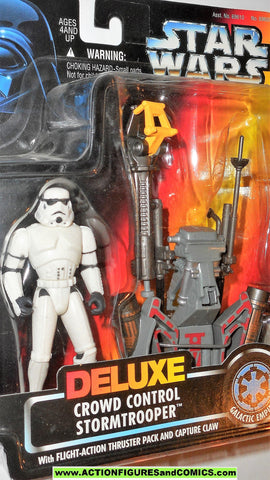 star wars action figures STORMTROOPER Deluxe crowd control power of the force moc