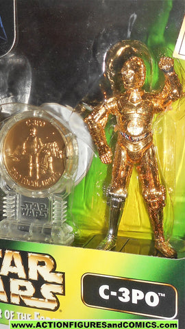 star wars action figures C-3PO power of the force Collector Coin mib moc