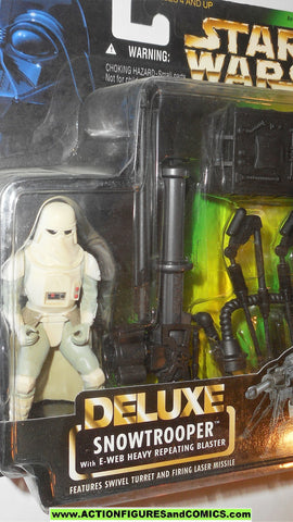 star wars action figures SNOWTROOPER deluxe 1997 power of the force moc