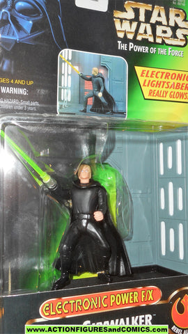 star wars action figures LUKE SKYWALKER JEDI KNIGHT deluxe FX light up power of the force