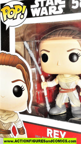 Funko Pop star wars REY 58 bobble-head force awakens vinyl figures moc mib
