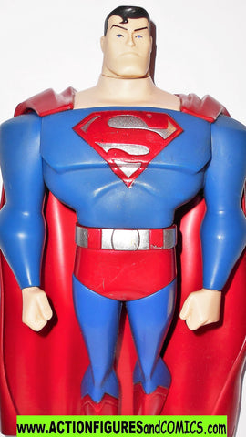 justice league unlimited SUPERMAN 10 INCH silver complete dc universe animated
