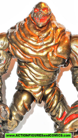 marvel legends MOLTEN MAN 8 inch Complete baf build a figure spider-man