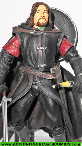 Lord of the Rings BOROMIR 2003 battle attack action toybiz movie